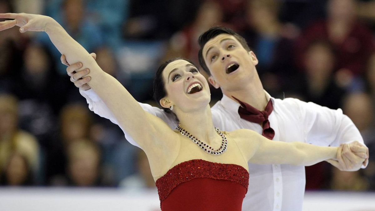 Tessa Virtue and Scott Moir skate to a gold medal during the Dance free program at the Canadian Figure Skating Championships in Moncton, New Brunswick, January 21, 2012.