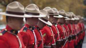 November 7, 2011 - Richmond, BC - Richmond RCMP parade in front of the newly unveiled $36 million Richmond Community Safety Building, which houses the headquarters of the Richmond RCMP.