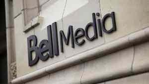 The Bell Media logo is displayed on a building in Toronto in this handout photo.