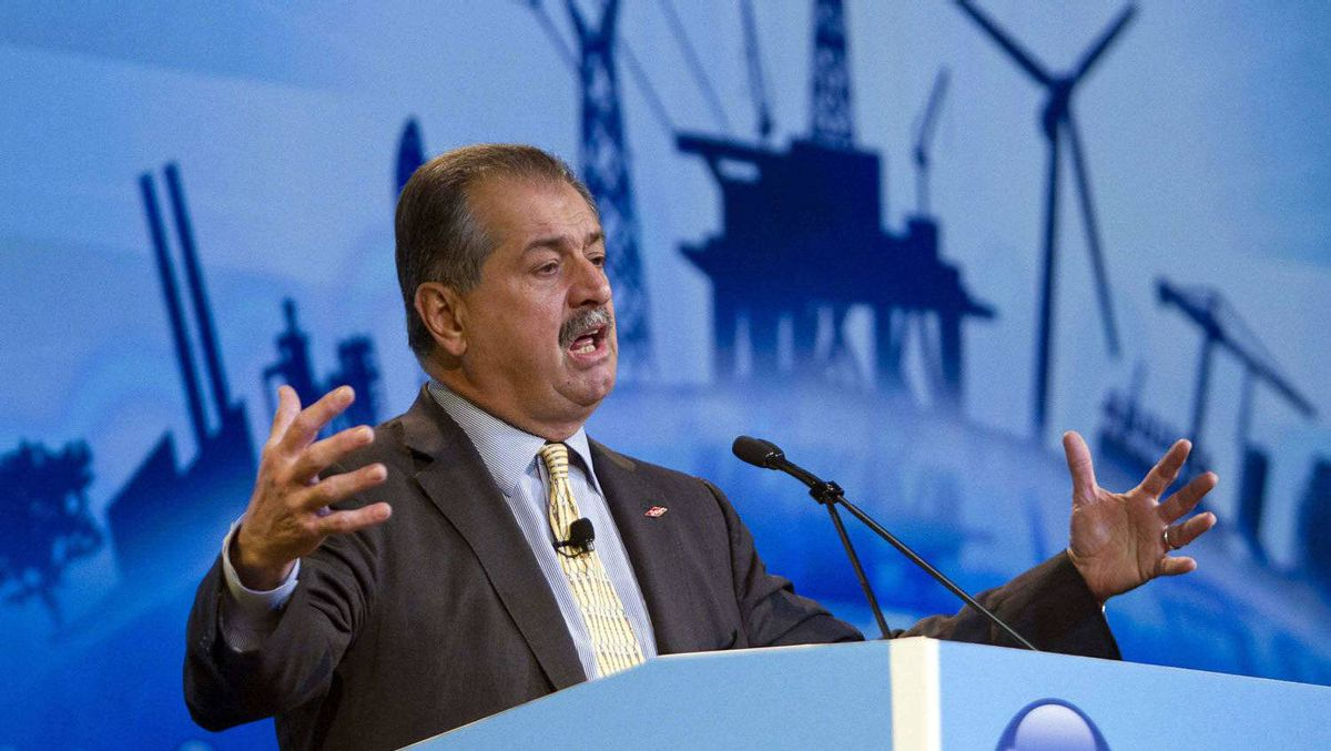 Dow Chemical CEO Andrew Liveris speaks during the CERAWEEK world petrochemical conference in Houston March 8, 2012.