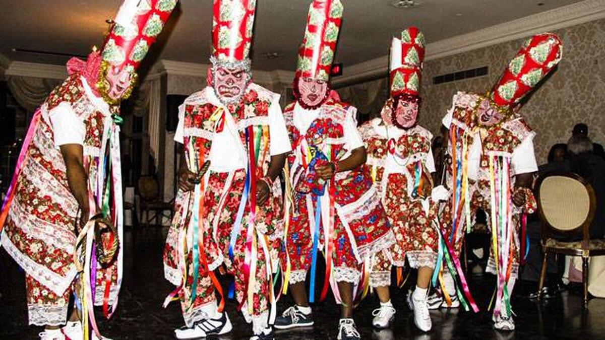 Traditional Montserrat dancers perform at a CANO benefit gala.