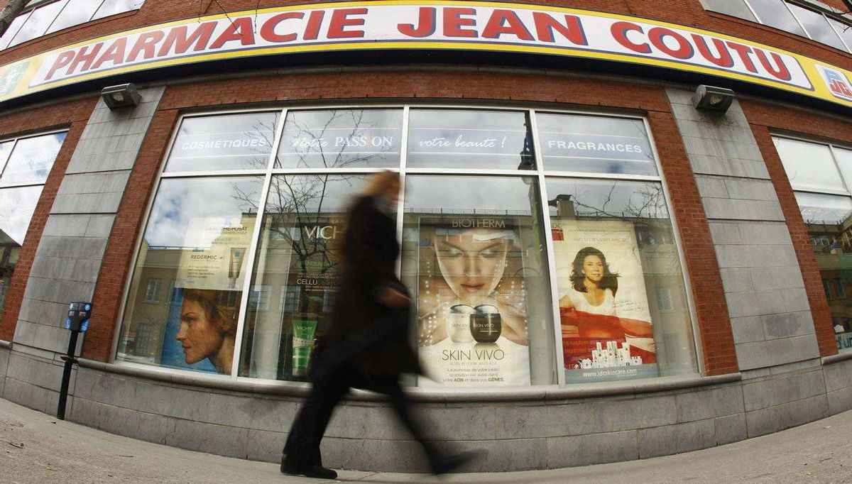 A Jean Coutu pharmacy in downtown Montreal