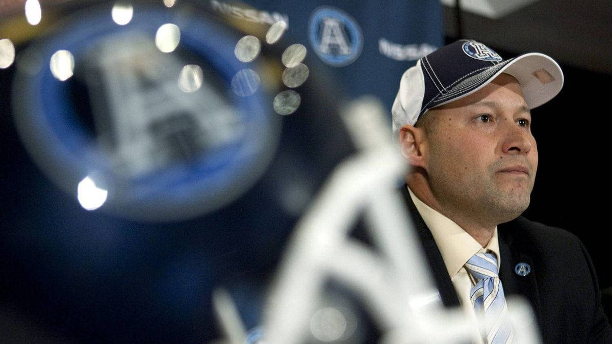 Toronto Argonauts new head coach Scott Milanovich attends a press conference to announce his appointment, in Toronto on Thursday December 1, 2011.