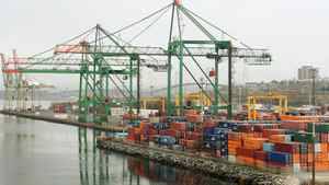 A container terminal in Halifax in this 2008 photo.