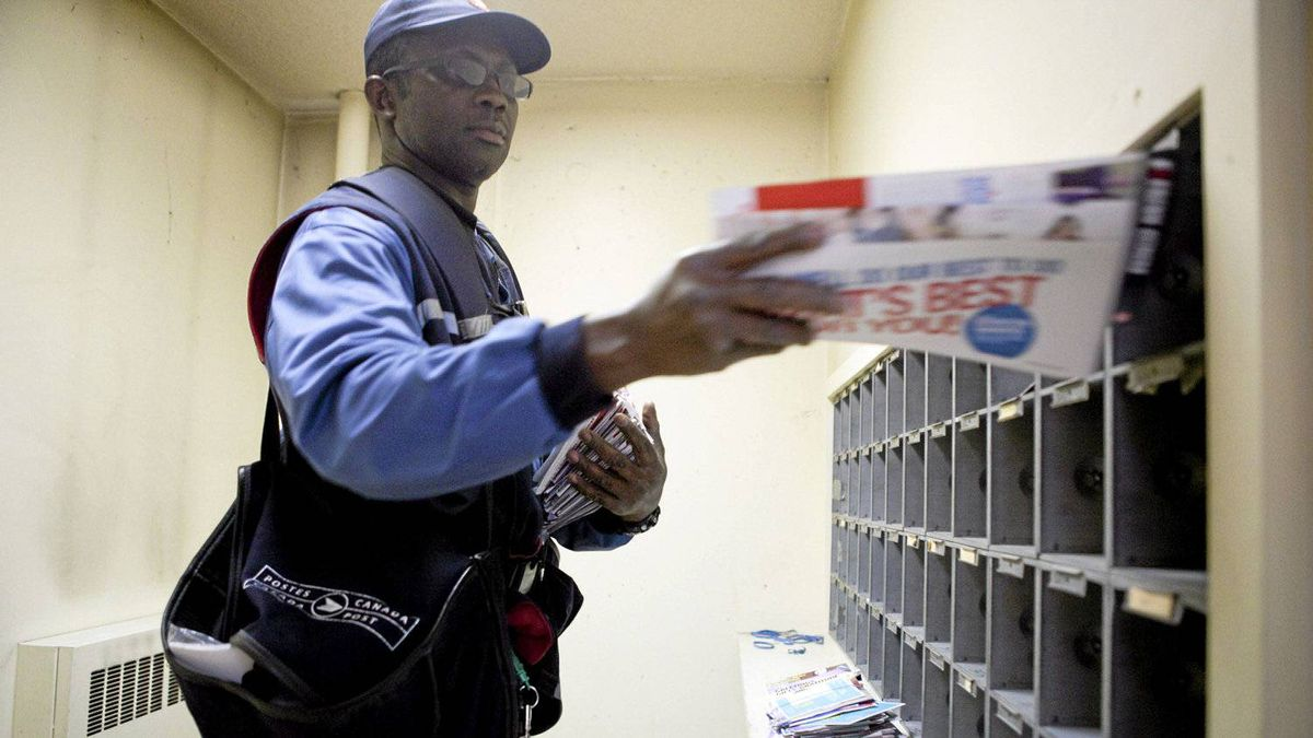 George Graves-Sampson delivers mail in Toronto the old-fashioned way, but with the revamped ePost service, Canada Post is now chasing digital business.
