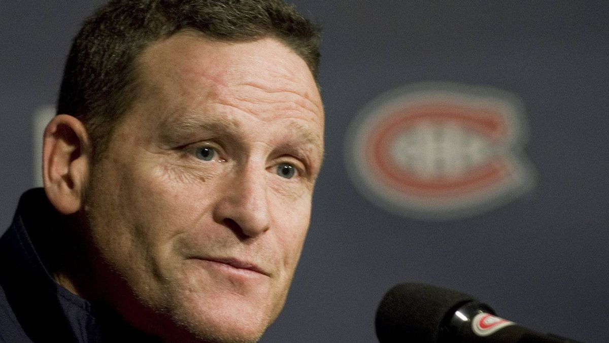 Randy Cunneyworth speaks at a news conference in Montreal Saturday, December 17, 2011 after being named as interim head coach of the Montreal Canadiens.