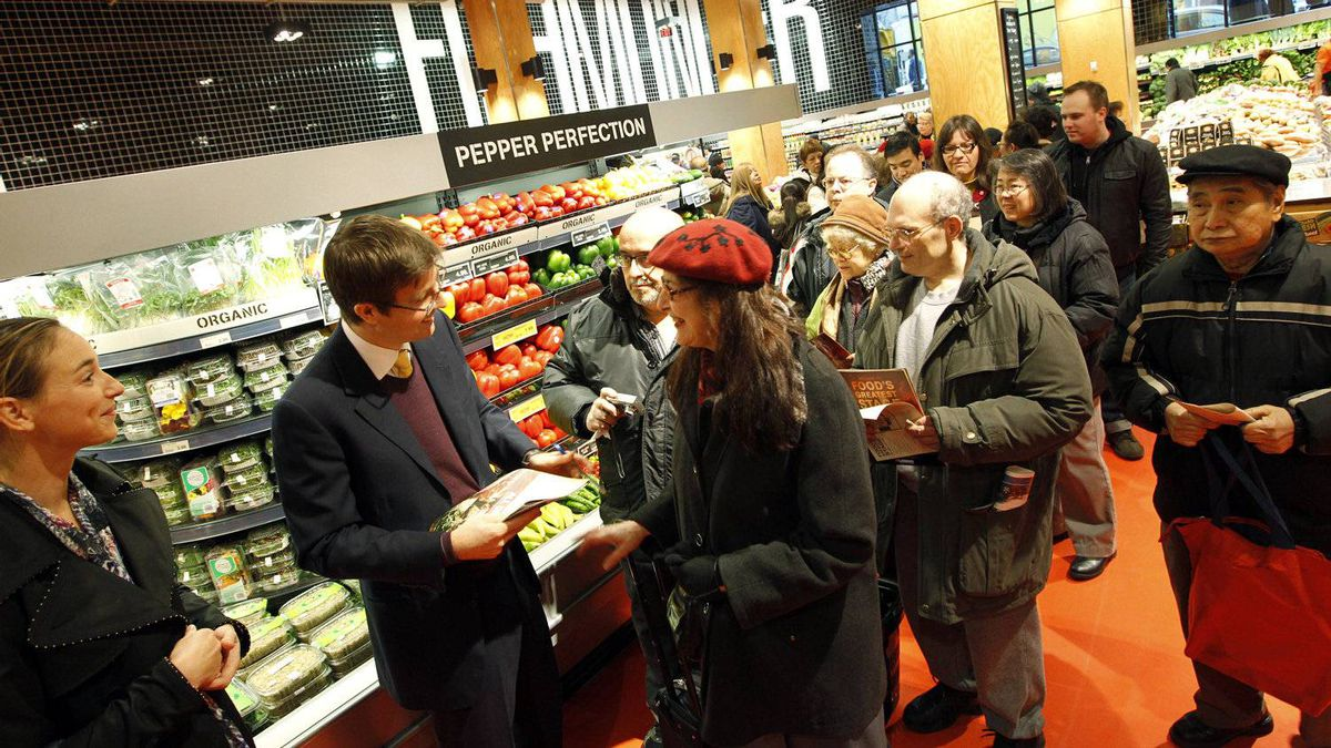 Perhaps the biggest attraction at the opening of the new Loblaws store was Galen G. Weston himself. Mr. Weston, executive chairman of Loblaw Cos. Ltd. and star of the grocer's commercials, signed autographs for shoppers who, at one point, formed a long line to meet him.