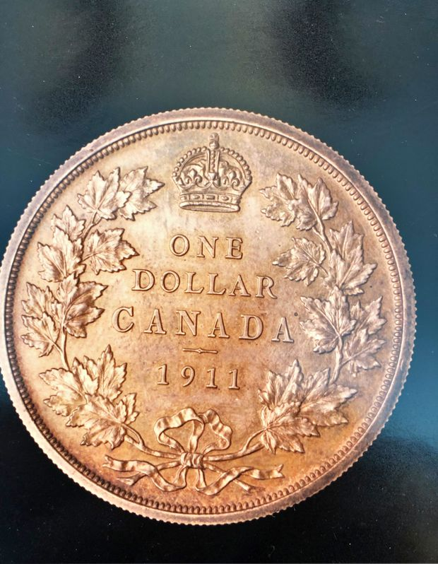 Rarest Canadian coin – the 1911 silver dollar – on display