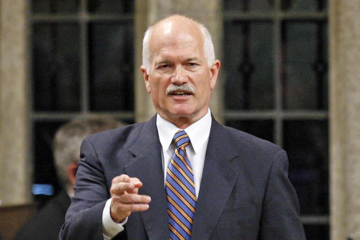 NDP Leader Jack Layton attacks the government during Question Period in the House of Commons on Sept. 29, 2009.