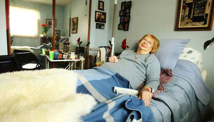 Emma Maria Eddy, 84, at her home in Cole Harbour, N.S. She is visited and treated at her home.