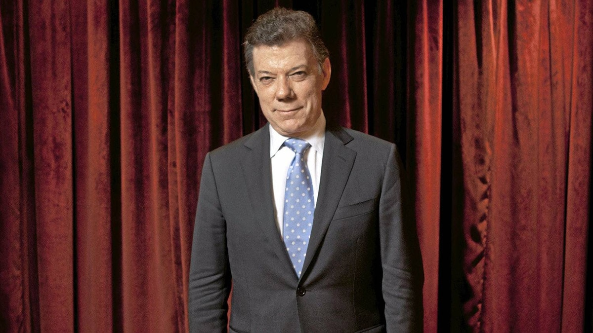 Colombian President Juan Manuel Santos Calderon is photographed at the Ritz Carlton in Toronto Sep. 22, 2011.