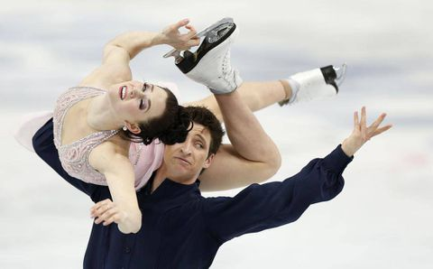 Virtue and Moir skate to silver in ice dance