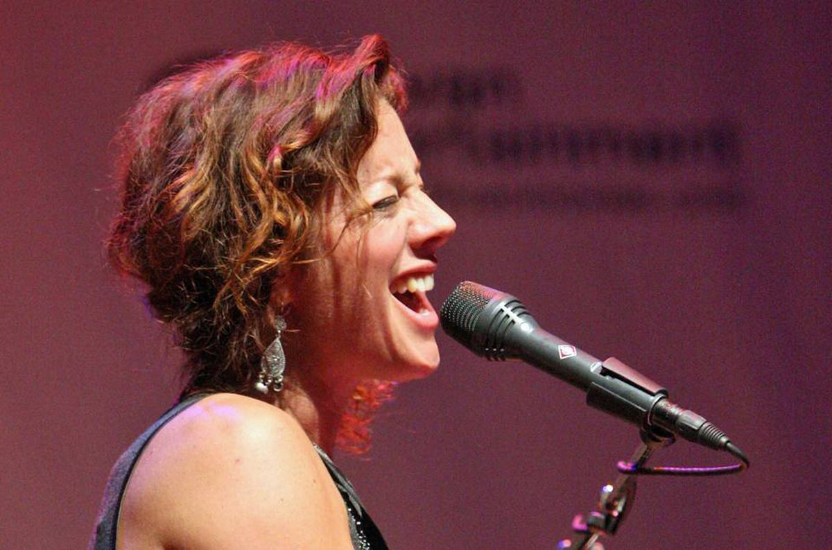 Sarah McLachlan performs at Cinema Against AIDS in Toronto, September 15, 2009.