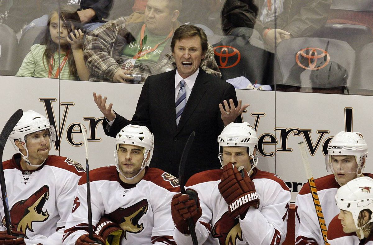 Phoenix Coyotes coach Wayne Gretzky's $8-million (U.S.) a year salary is often quoted as part of the team's mismanagement.