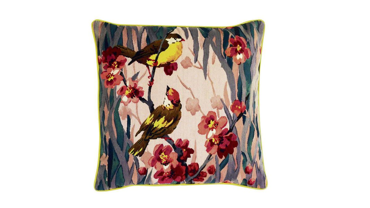 3. Designed by Paul Smith for the Rug Company, the bright Birdie Blossom Cushion became an instant must-have after receiving Carrie?s seal of approval in Sex and the City 2. $545 through www.avenue.road.com.
