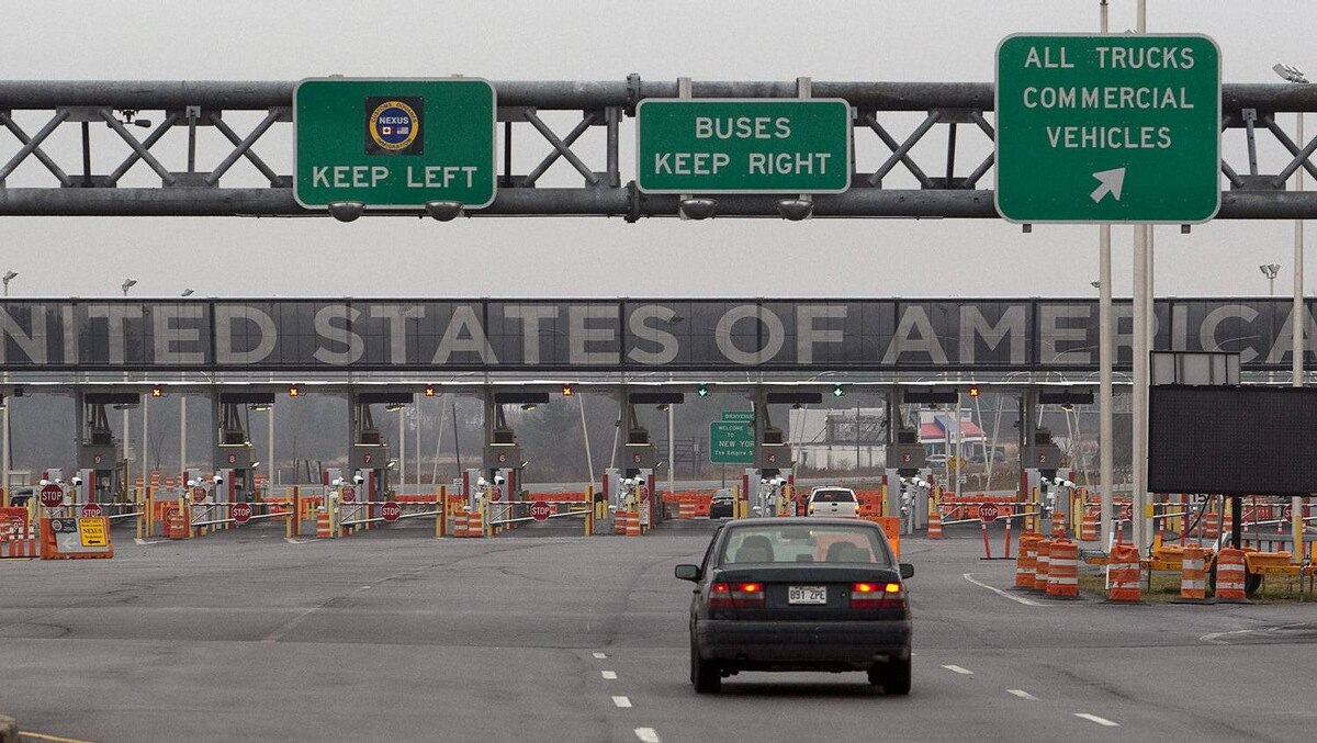 The United States border crossing is shown Wednesday, December 7, 2011 in Lacolle, Que., south of Montreal.