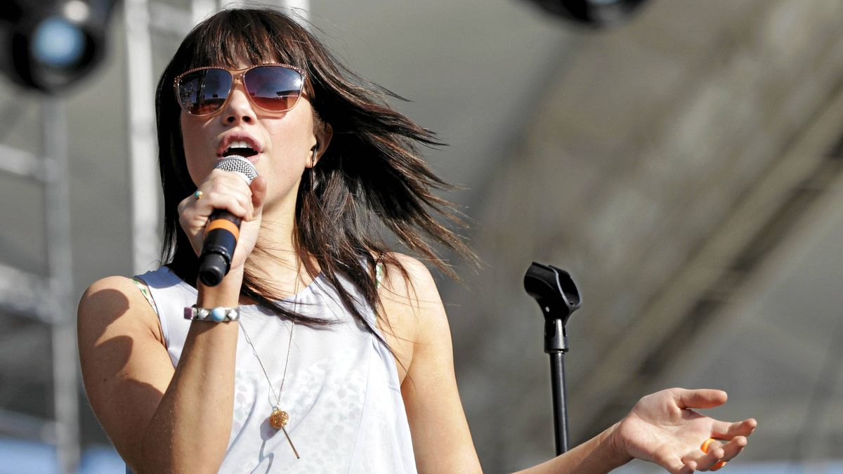 Singer Carly Rae Jepsen performs at the 2012 Wango Tango concert at the Home Depot Center in Carson, Calif., May 12, 2012.