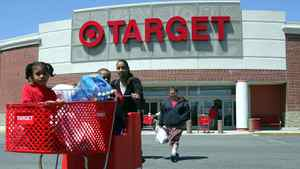 Shoppers emerge from a Target store in Boston