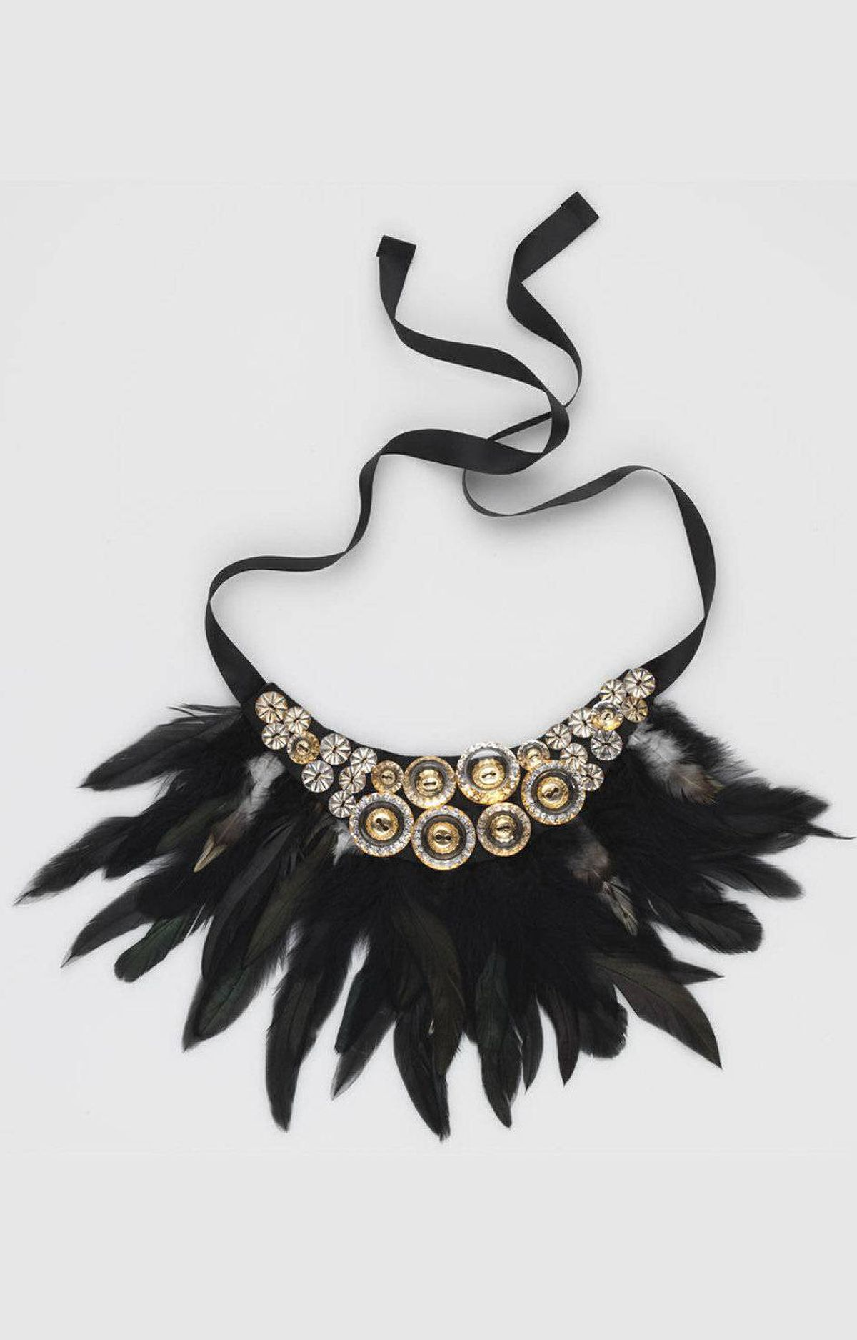 Feather necklace by Headmistress, $74 through www.loveheadmistress.com