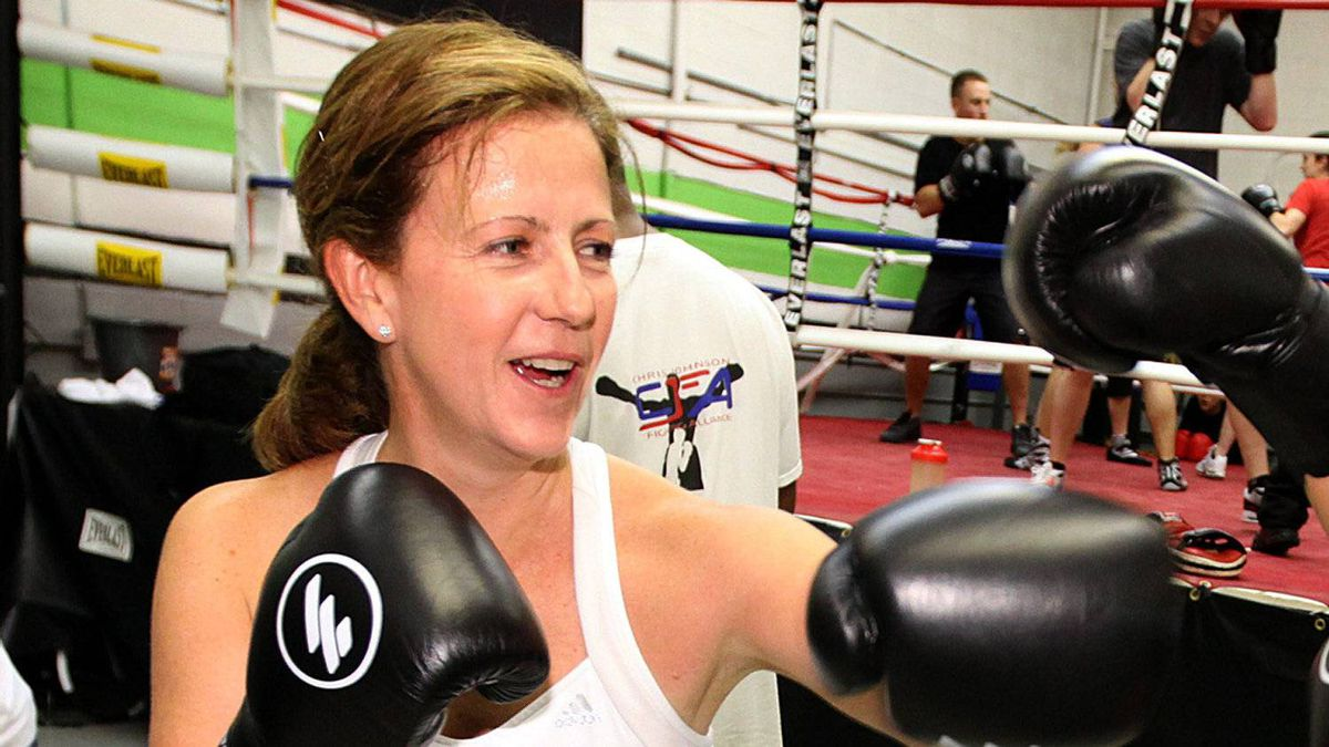 Colleen Peddie, CFO of Bensimon Byrne advertising agency is seen here working out at Clancy's Boxing Academy in Mississauga, Ontario Thursday Dec. 2, 2010. She is training for an upcoming boxing match in Ad Wars, a benefit fight night to raise money for Ronald McDonald House.