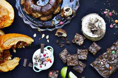 Too much leftover Halloween candy?  Try these four recipes