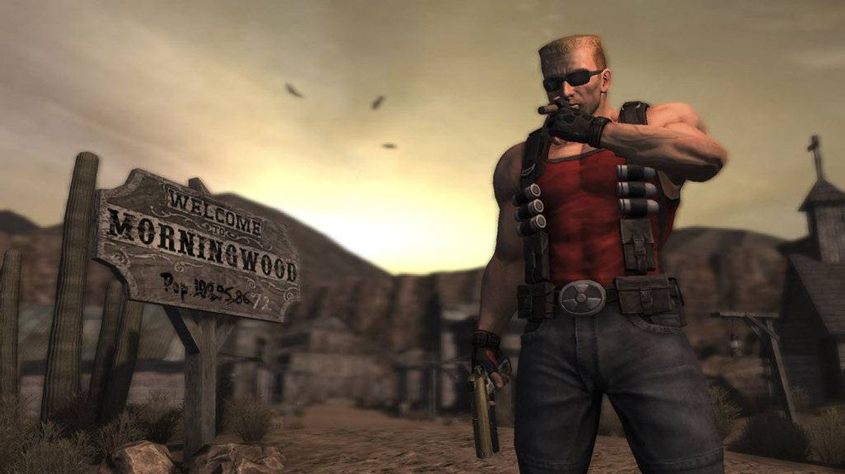 An undated handout image from the video game, Duke Nukem Forever.
