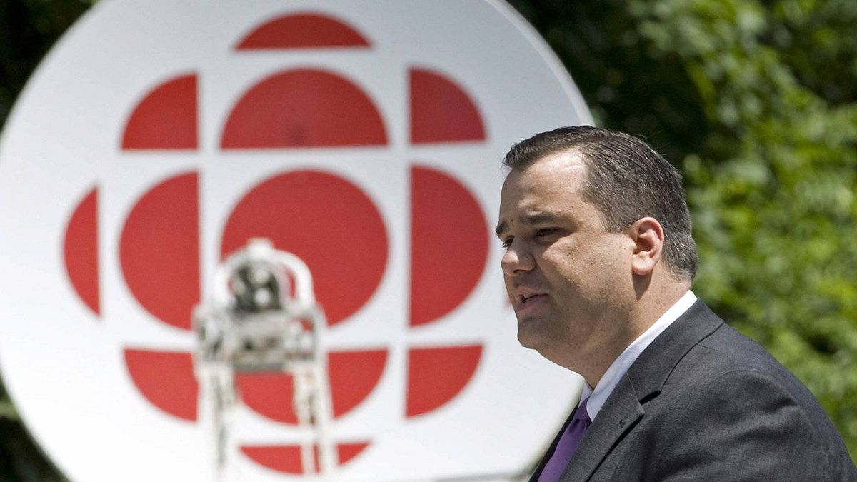 Heritage Minister James Moore makes an announcement at Rideau Hall on June 21, 2011. The CBC took at $115-million hit in the 2012 federal budget.