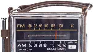 A vintage transistor radio.
