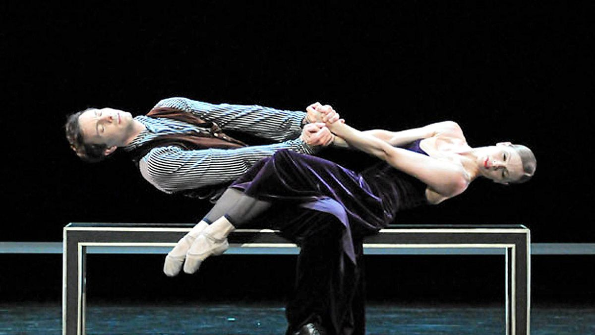 Eric Gauthier and Isabelle Pollet Villard in Hans van Manen's The Old Man and Me