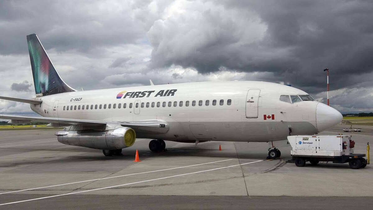 A Boeing 737 (737-200) jetliner belonging to First Air is shown in Edmonton, Alta,, on July 15, 2009. A 737 operated by First Air crashed on Aug. 20, 2011.