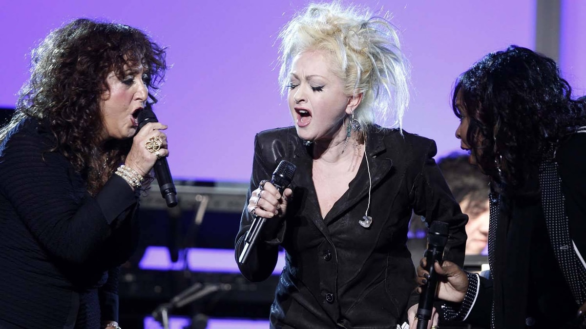 Maria Muldaur (L), Cyndi Lauper (C) and Betty Wright perform at the 53rd annual Grammy Awards in Los Angeles, California February 13, 2011.