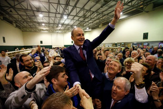 Ireland's Sinn Fein leader blasts rivals