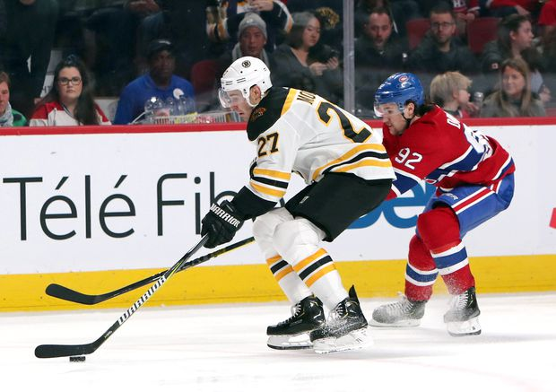 outlet store 43cbc 11c5e John Moore's late power-play goal lifts Bruins over ...