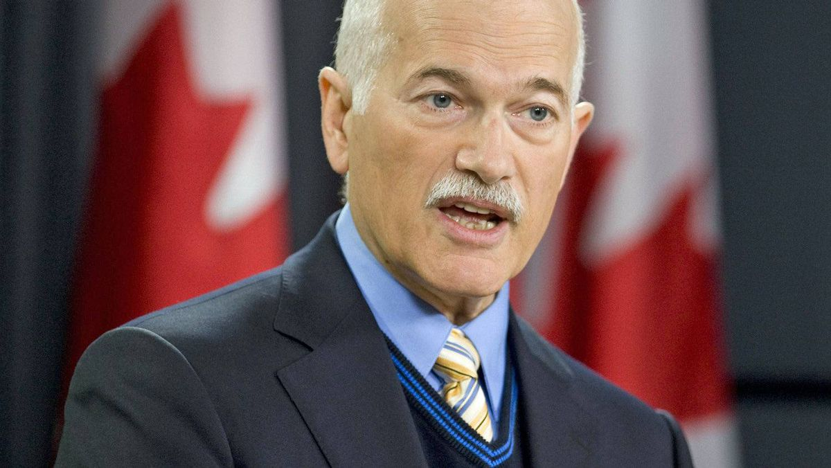 NDP Leader Jack Layton holds a news conference in Ottawa on Oct. 29, 2010.
