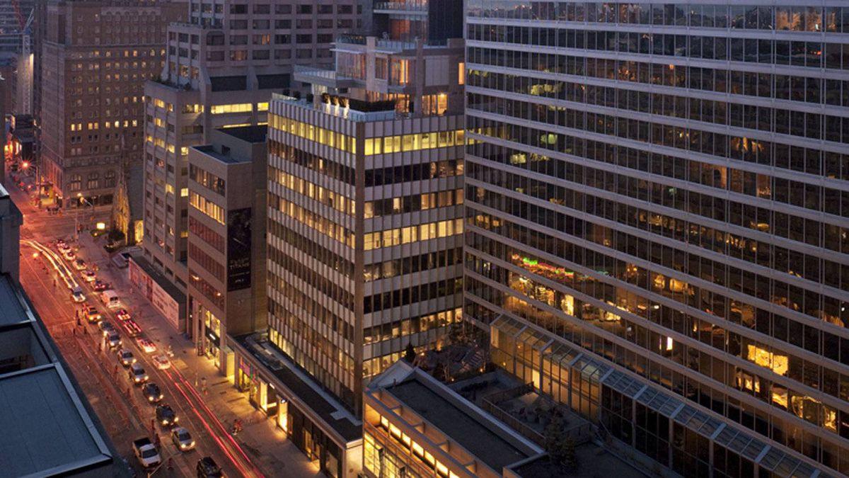 130 Bloor Street West, Toronto. Renovation by Quadrangle Architects.
