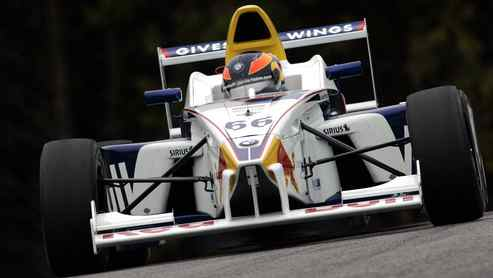 Robert Wickens in action for Formula BMW USA in 2006.