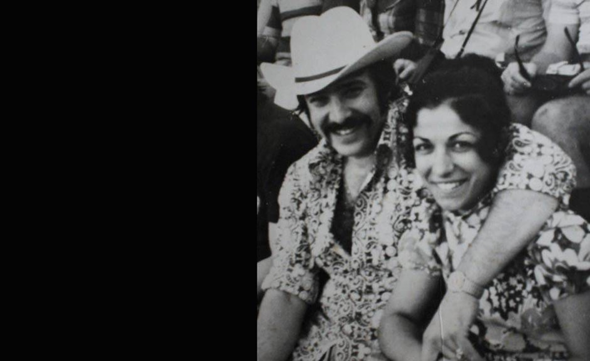 'My Mom and Dad (Maria and Gabriel) chilling out in the stands of a Mexican bull-fight on some unknown date in the early '70s. The orginal hipsters... now I know where I get the cool factor from,' writes Mina Sunday Cicconi.