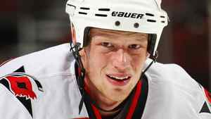 Eric Staal #12 of the Carolina Hurricanes. (Photo by Paul Bereswill/Getty Images)