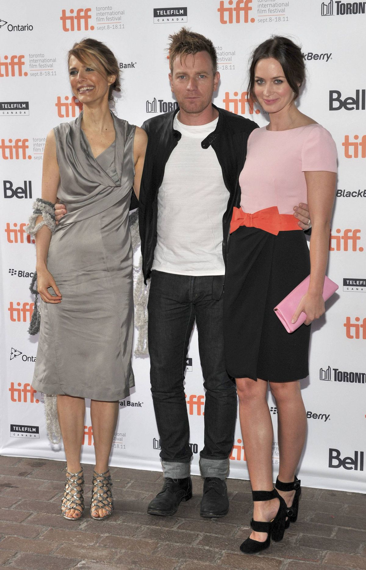 "TORONTO, ON - SEPTEMBER 11: Director Lynn Shelton, actor Ewan McGregor and actress Emily Blunt attend the premiere of ""Your Sister's Sister"" at Ryerson Theatre during the 2011 Toronto International Film Festival on September 11, 2011 in Toronto, Canada."