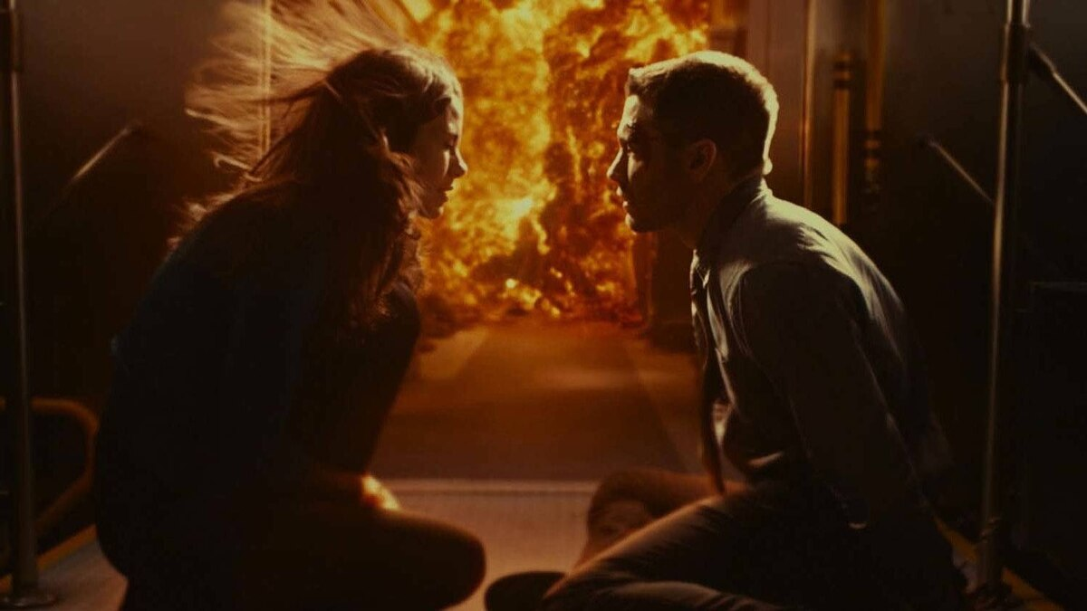 Is it hot in here? Michelle Monaghan and Jake Gyllenhaal in a scene from Source Code.