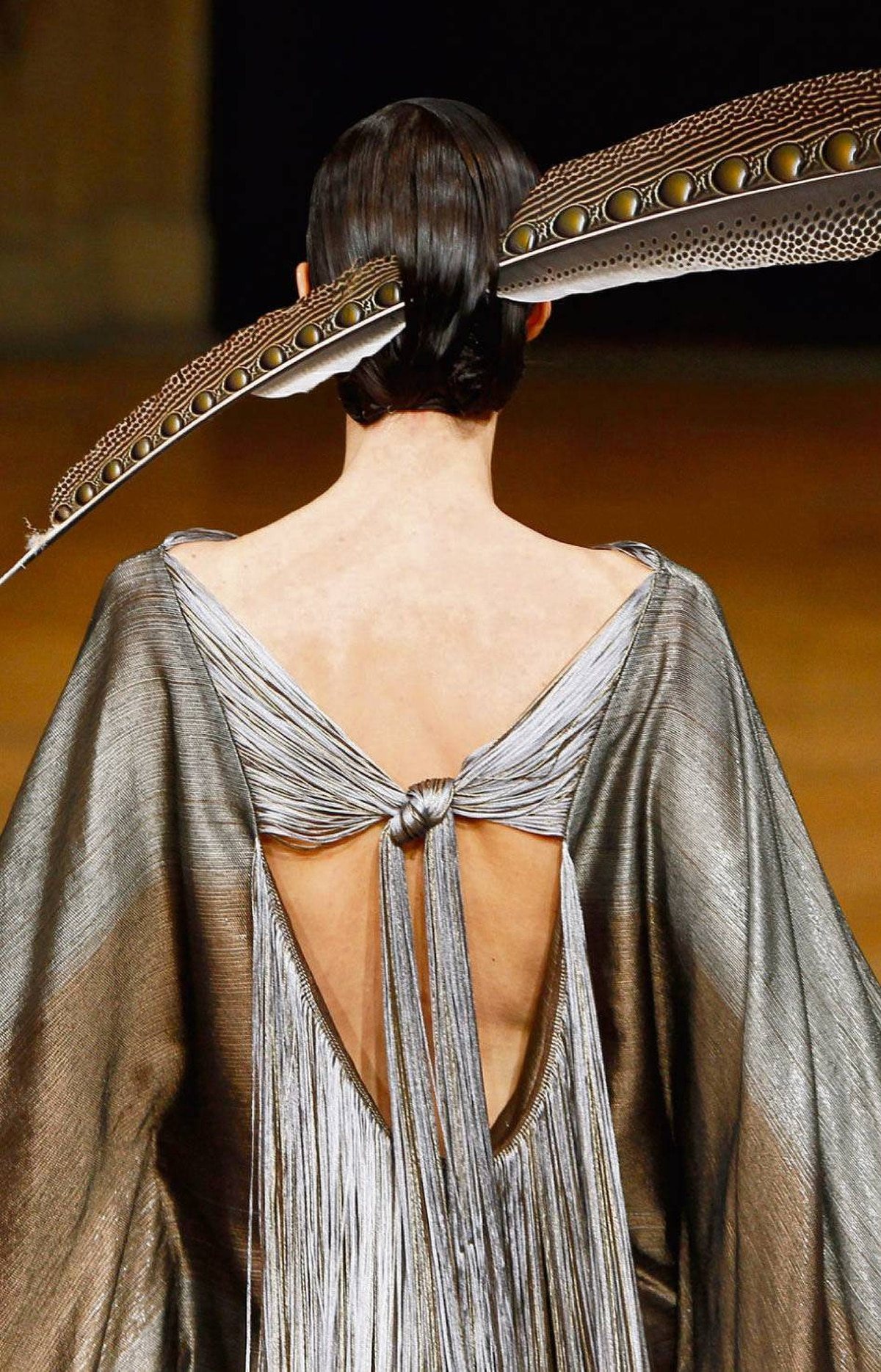 Plumage from the Alexis Mabille 2011/12 fall couture collection.