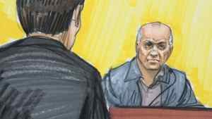 In this courtroom sketch, David Headley is shown in federal court in Chicago.