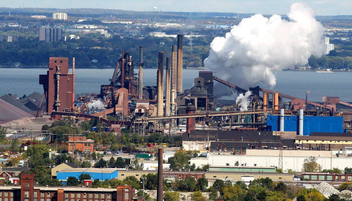 Steel operations at the former Stelco Inc. in Hamilton, Ont.