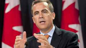 Bank of Canada Governor Mark Carney has urged Canadian businesses to not feel 'paralyzed' by current worries about the global economy. THE CANADIAN PRESS/Sean Kilpatrick