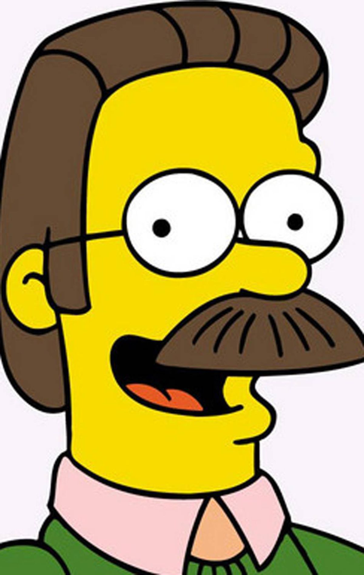 7. Ned Flanders He's sweet, caring and oh-so-neighbourly. But there's something we just don't trust about Ned, and we're pretty sure it starts with that perfectly groomed moustache. Even on Ned Flanders, the stache adds swagger.
