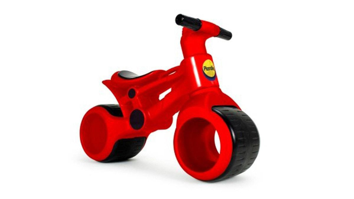 PlasmaBike The pedal-free PlasmaBike is meant to encourage balance development and be a safer option for learning to ride a bike (as opposed to those tricky training wheels). It sounds like an overprotective parent's dream come true. Still, it looks freakin' awesome. $79.99, plasmarttoys.com
