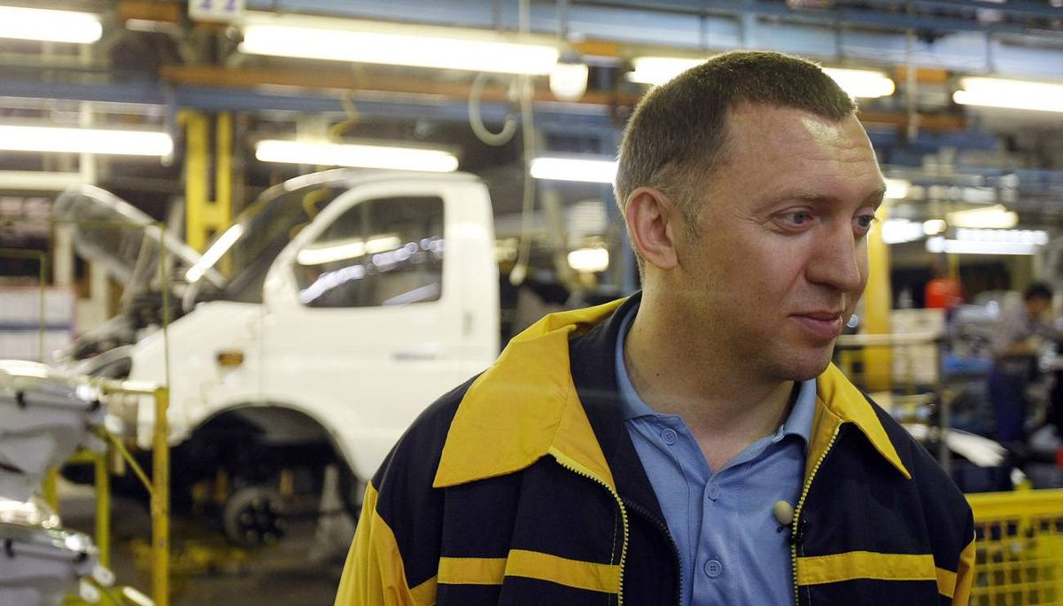 Russian businessman Oleg Deripaska visits the GAZ car factory in Nizhny Novgorod. His empty GAZ factories would be retooled to make Opels, if the deal is successful.