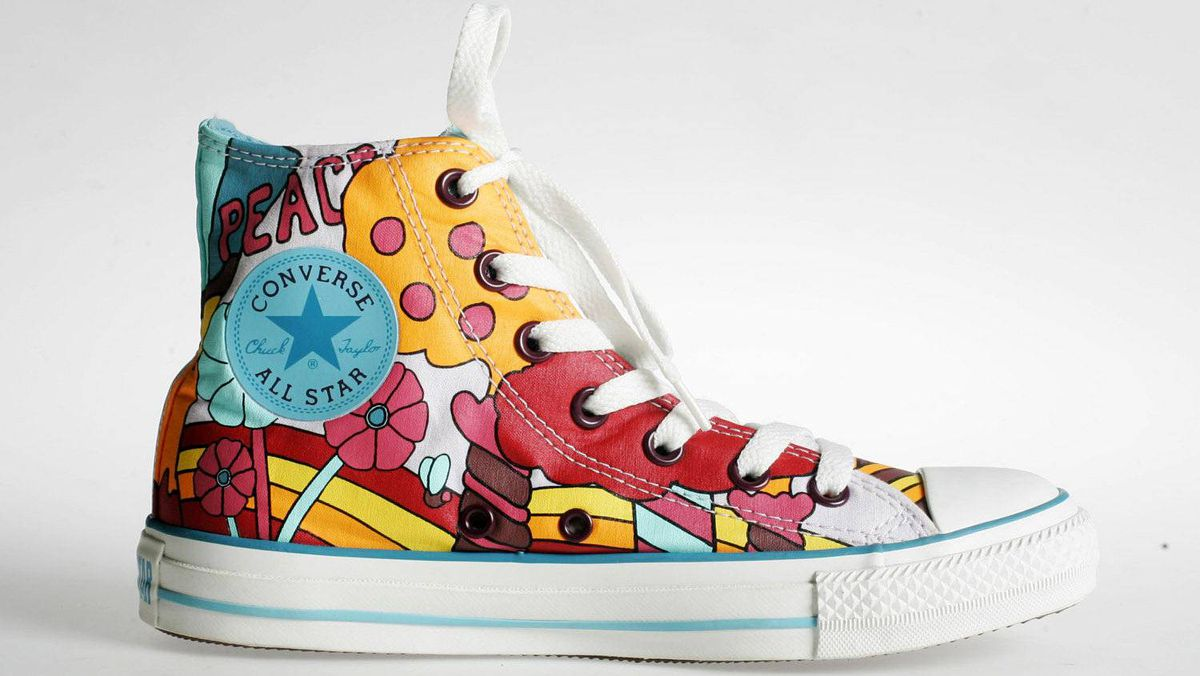 1917 The Converse Rubber Shoe Company introduces high-top basketball shoes, christened the All Star.