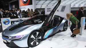The BMW i8 plug-in hybrid.