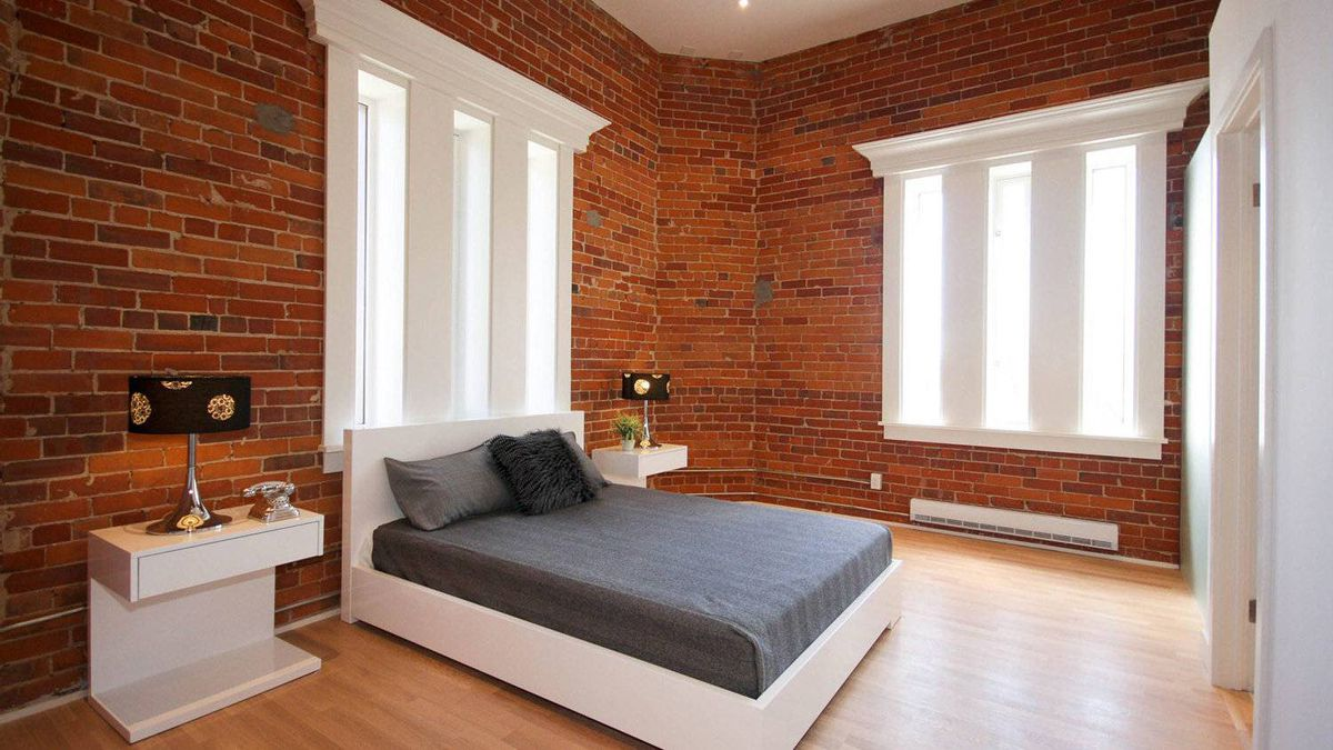 Victoria Lofts master bedroom with new tower windows.